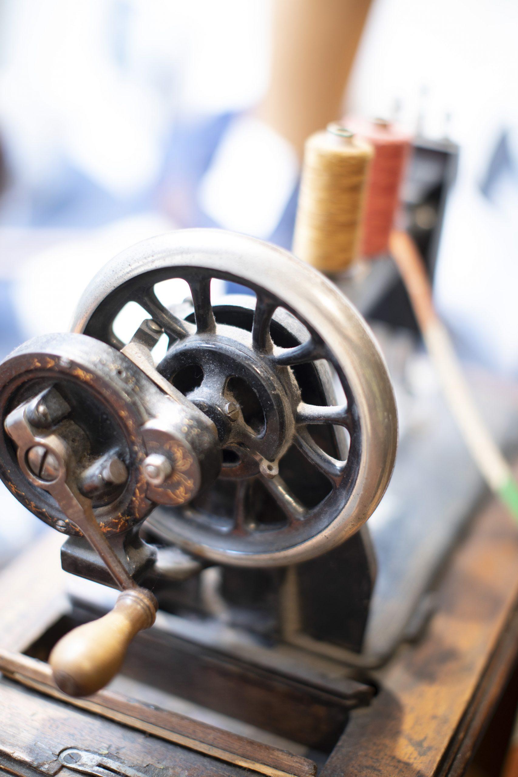 Ouderwetse naaimachine