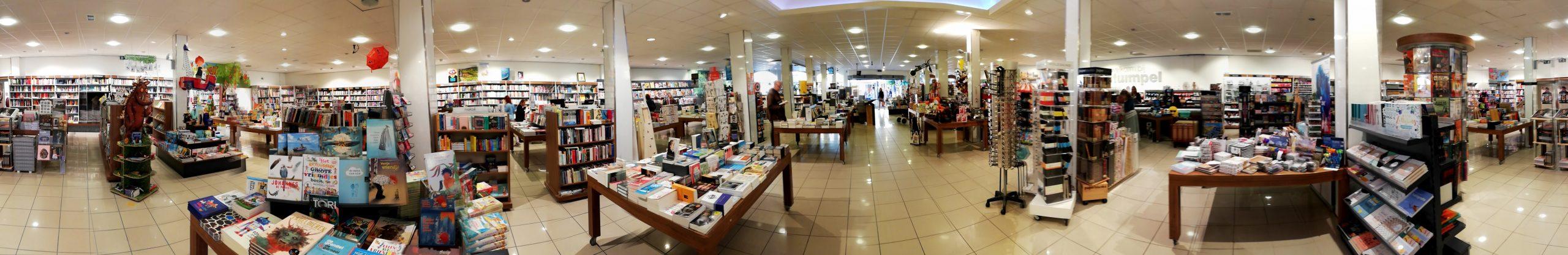Het interieur van een van de boekwinkels
