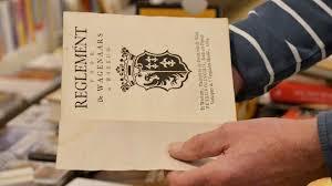 Een oud reglement in boekvorm