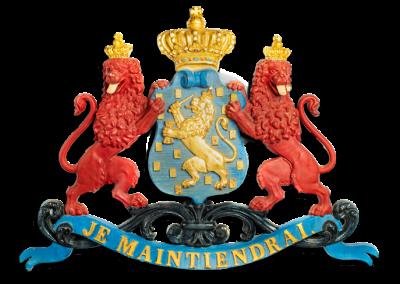 wapenschild met twee rode leeuwen uit 1815