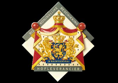 Wapenschild vastgelegd door Koningin Beatrix in 1987